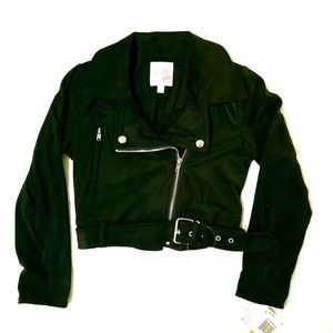 GB Girls Suede Cropped Jacket and Coat Black  S